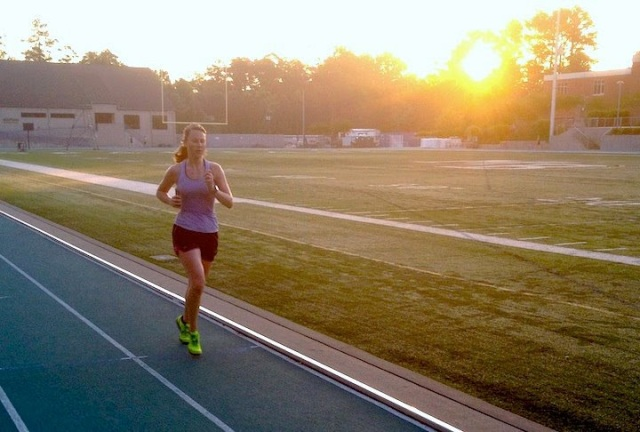 RebeccaFite-Speed work on track before work